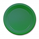 Solid Green Plastic Plates ( Pack Of 20)