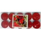 Strawberry Scented Candle With Metal Base (Red) - Pack of 10