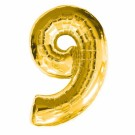 Golden Number 9 Foil Balloon - 24""