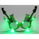 Flashing LED Guitar Shaped Shades (Green)