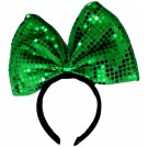 Sequin Bow Headband (Green)