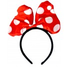 Funny Polka Dots Bow Headband (Red)