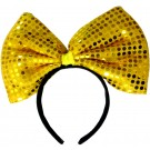 Sequin Bow Headband (Yellow)