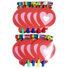 Candy Hearts Valentines Day Horns (Pack Of 10)