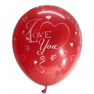 I Love You Latex Balloons ( Red) - Pack Of 5