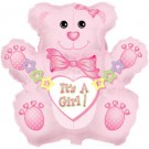 Baby Bear Pink - It's A Girl - Super Shape Foil Balloon - 24""