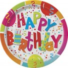 Happy Birthday Jamboree Party Plates (Pack Of 8)