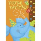 Jungle Party Invitation Cards With Envelopes (Pack Of 10)