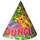 Smiling Safari Paper Cone Hats (Pack Of 10)