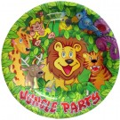 Smiling Safari Paper Plates (Pack Of 10) - 7 inch