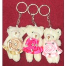 Assorted Teddy Bear Key Chains (Pack Of 6)