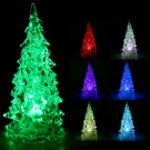 Stylish Icy Color Changing LED Light Christmas Tree Decoration Night Light Gift