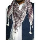 Maroon and White Arafat Scarf