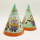 Minions Theme Paper Hats - Pack of 10