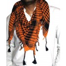 Orange and Black Arafat Scarf