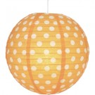 "Orange Polka Dots Paper Lantern 14"" (1 Piece)"