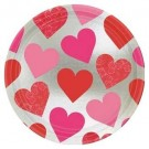 Key To Your Heart Valentines Day Party Dinner Plates (Pack Of 8)