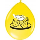 Beer Party Latex Balloons (Yellow)