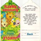 Jungle Theme Party Invitation Cards - (Pack Of 12)