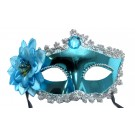 Venetian Crown Party Mask (Blue)