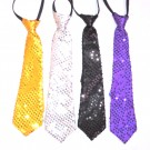 Assorted Color Sequin Zipper Tie (Pack Of 4)
