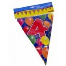 Birthday Flag Banner 4 Years Old