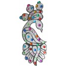 Peacock Design Crystal Body Tattoos (Pack of 2)