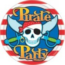 Pirate Party Paper Plates -Pack of 10