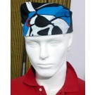 Pirate Print Bandana - Blue