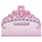 Princess Party Invitation Cards (Pack Of 8)
