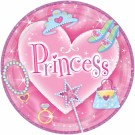 Princess Diva Paper Plates (Pack Of 8)