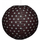 "Brown Polka Dots Paper Lantern 14"" (1 Piece)"