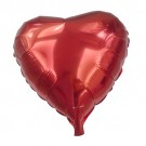 """Heart Shaped Solid Red Foil Balloon - 18"""""""