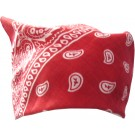 Red Bandana With Beautiful White Print