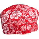 Red Bandana With White Floral Print