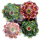 Colorful Decorative Diwali Diyas (Pack Of 4)
