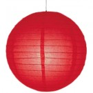 8 inch Even Round Paper Lantern (Red) - 3 Piece
