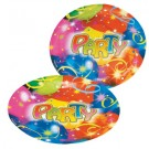 Balloon Party Paper Plates -Pack of 8