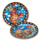 "Little Pirate Theme Party Plates -  9"" (Pack Of 8)"