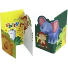 Safari Party Invitation Cards -Pack of 6