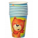 Teddy & Friends Party Paper Cups -Pack of 8
