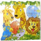 Smiling Safari Paper Napkins (Pack Of 10)