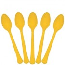 Solid Yellow Sunshine Plastic Party Spoons (Pack Of 24)