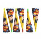 Superman Party Horns (Pack Of 6)