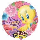 Tweety Happy Birthday Singing Foil Balloon-28""