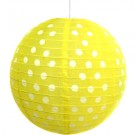"Yellow Polka Dots Paper Lantern 14"" (1 Piece)"