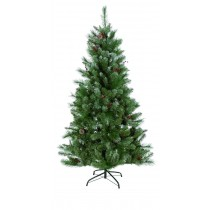 Pine Christmas Tree With Lights & Ornaments - Easy To Assemble (5 Feet)