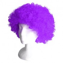 Purple Frizzy Afro Wig