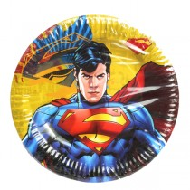 Superman Party Paper Plates (Pack Of 10)