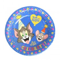 """Tom and Jerry Plates - 7"""" (Pack Of 10)"""